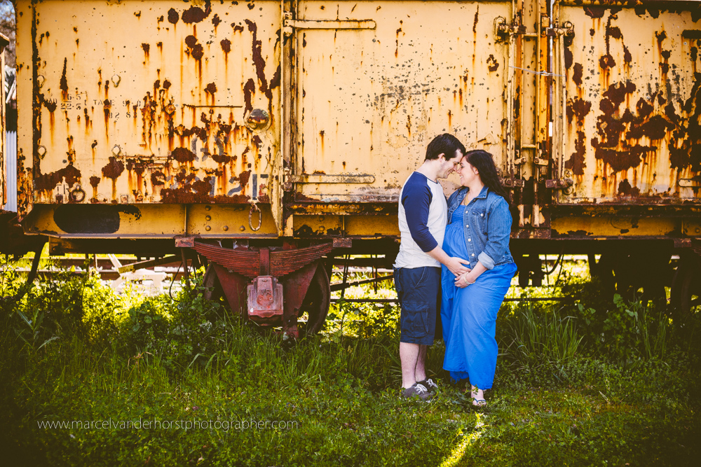 Maternity Shoot Baby Belly Healesville Railway Station